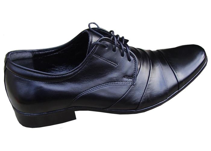 f0bd8f5455 Pánska elegantná spoločenská obuv čierna - skobuv.sk